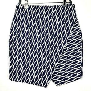 LOFT Petite Geometric Printed Tulip Hem Skirt